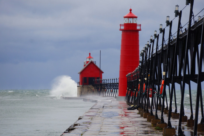 9) Grand Haven State Park Lighthouse