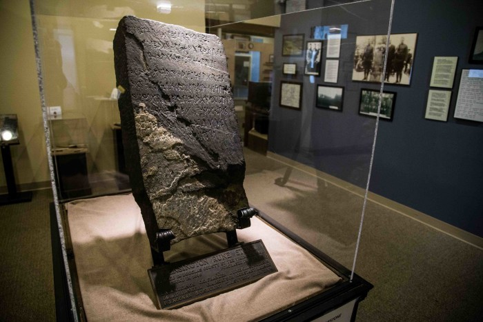 4. 1898 - The controversial Kensington Runestone was discovered by Swedish immigrant Olof Ohman.