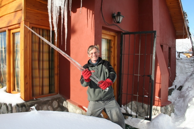 4. Killed by a falling icicle.