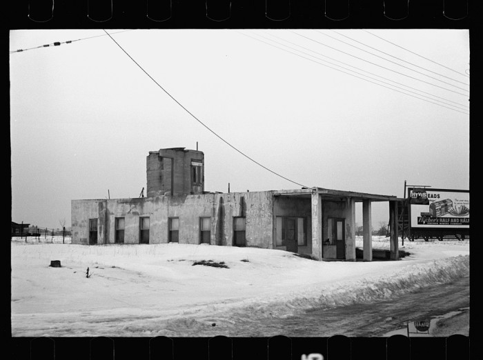 8. A very industrial-looking home in Bound Brook, off of Lincoln Highway. February, 1936.