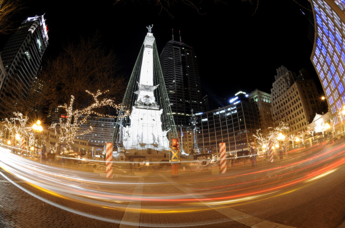 7. Monument Circle Lights