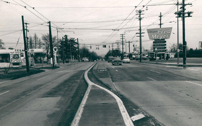 1. The Interstate at Lombard in Portland, 1955.