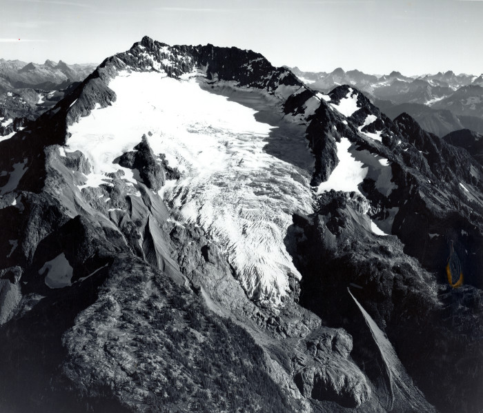 2. This stunning photo shows the  Nohokomeen Glacier on the face of Jack Mountain, located in the North Cascades. It was taken September 22, 1966.