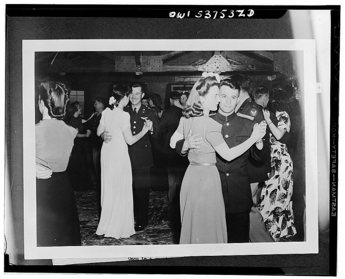 2. An officers' dance in Nome for Americans and Russians in 1943.