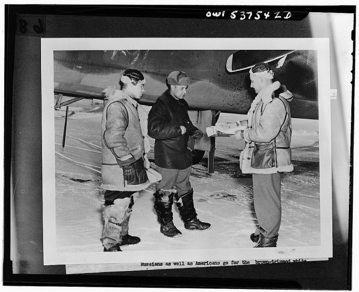 3. Organizing the gold weather test detachment in Ladd Field, 1943.