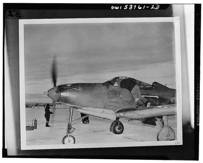 8. Radio check for this P-39 plane before takeoff to Siberia. 1943.