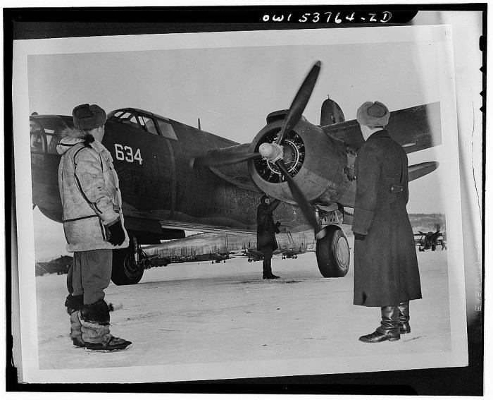 9. Another A-20 plane getting ready to head off to Siberia, 1943.