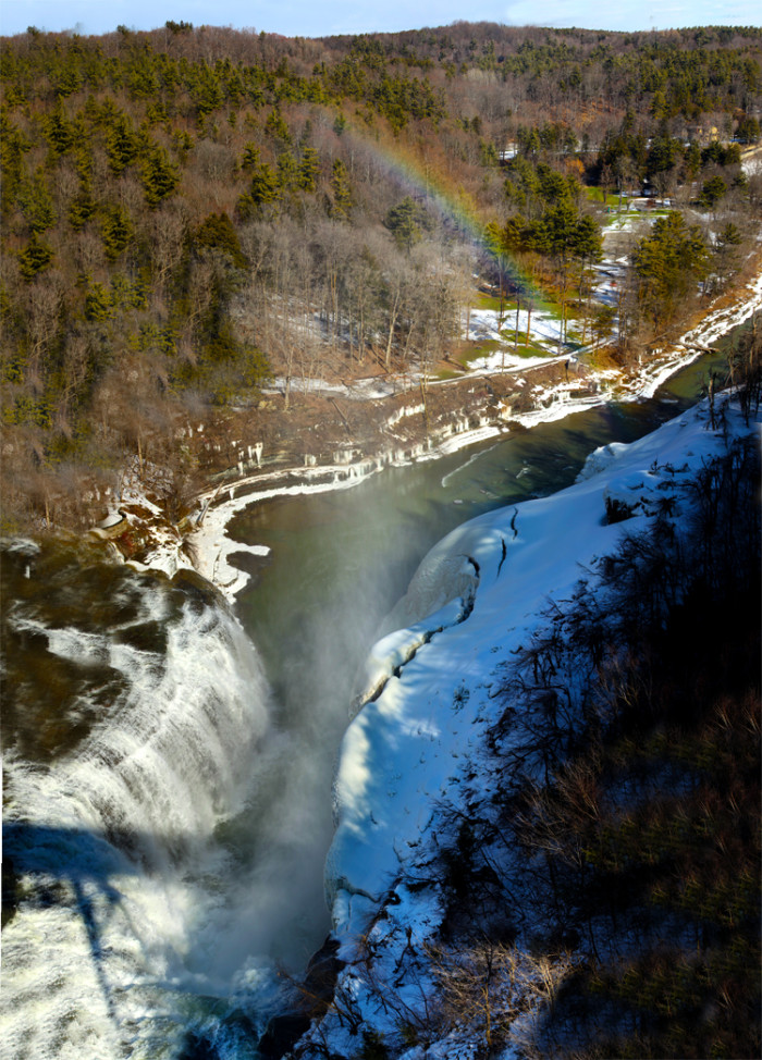 7. Upper and Lower Falls at Letchworth State Park