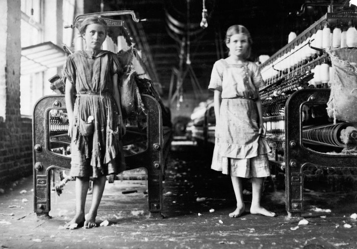 13. Child workers at a Fall River cotton mill.