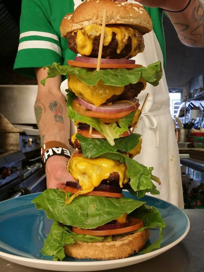 Virginia: The Challenge Burger at Lucky Star Lounge (Front Royal)