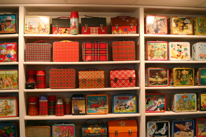 1. Vintage lunch boxes