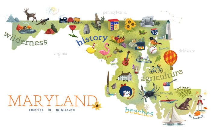 7 Hilarious Maps Of Maryland