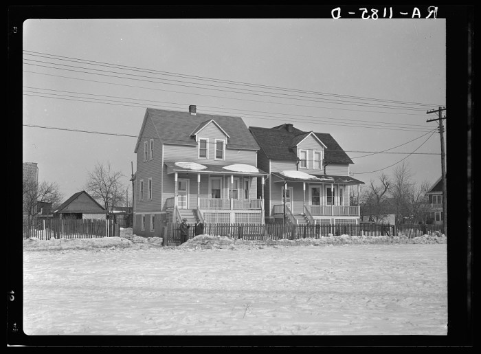 Though E Is Abundant These Manville Homes Have Been Built Closely Together In Anion Of Future Development February 1936