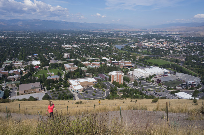 "4. Missoula from the Mount Sentinel ""M"" Trail"