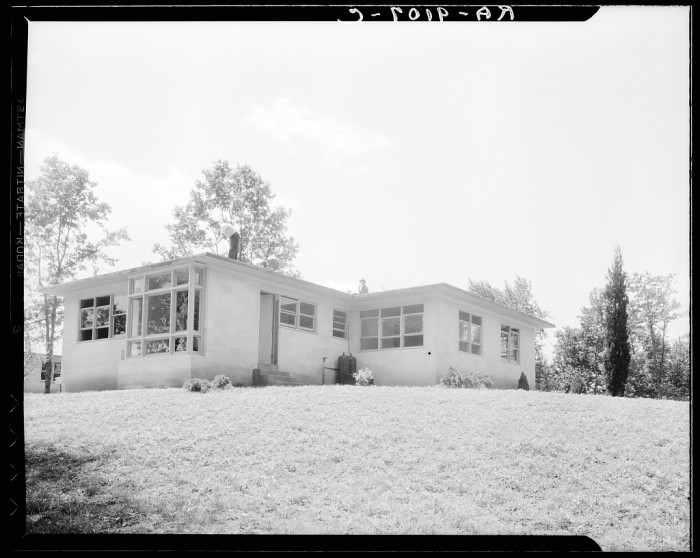 6. A model home in Hightstown, circa June, 1936.