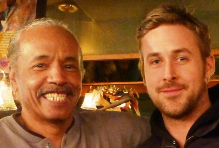 Here's owner Larry Mongo, left, with heartthrob Ryan Gosling, right.