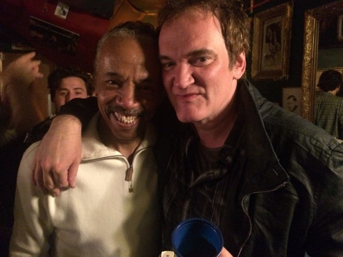 And here Larry is again, this time with filmmaker Quentin Tarantino.