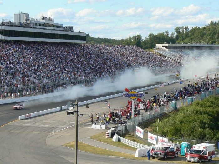 8. The New Hampshire Motor Speedway