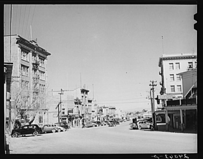3. A busy main street in Tonopah, Nevada.