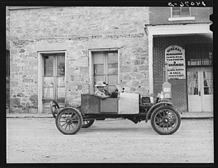 6. A couple of high school boys riding in a jalopy in Genoa, Nevada.