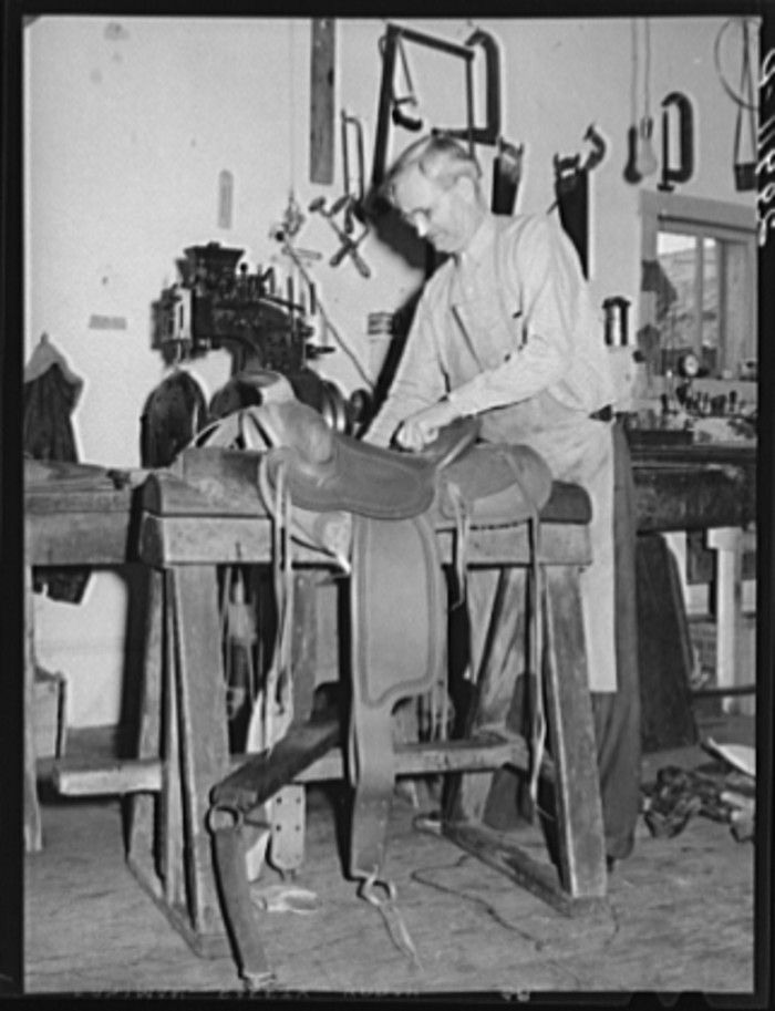 5. A saddle maker in Elko, Nevada.