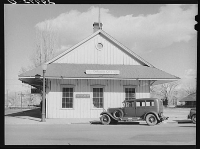 "11. ""Railroad station. Carson City, Nevada"""