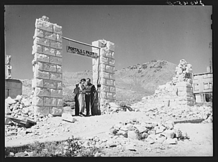 "5. ""Tourists at Rhyolite, Nevada"""