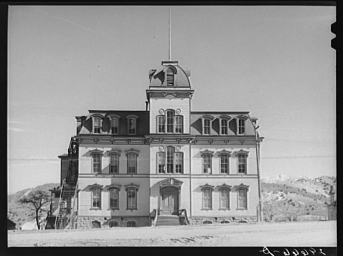 "7. ""Abandoned school. Virginia City, Nevada"""