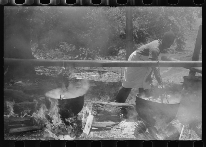 8. Old school barbecue.