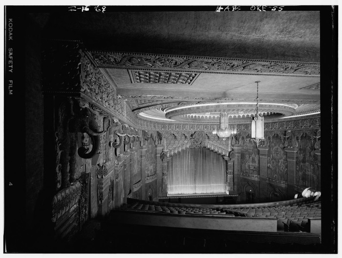 1. A view of the Oriental Theatre from balcony, Portland, 1969.