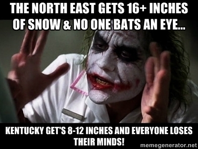 4. No matter the amount... when Kentucky gets snow… it is a serious ordeal.