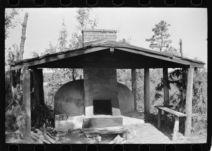 9. An outdoor stove used by farm workers.