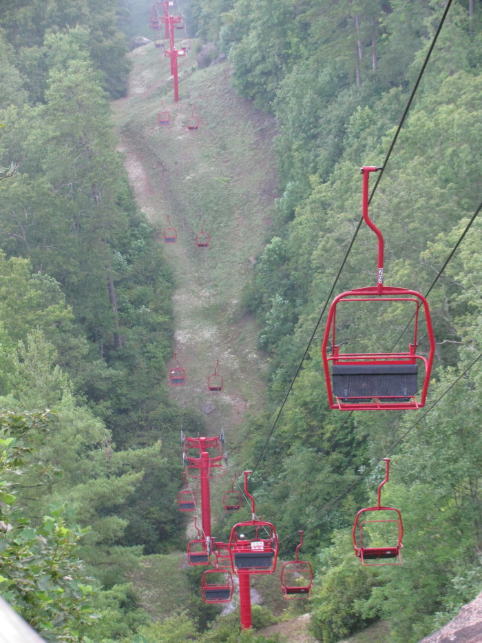 2. Red River Gorge Scenic Byway chair lift.