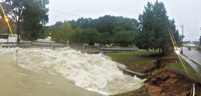 15. Richland County near Downtown Columbia. Another bridge feeling the wrath of the raging floodwaters.