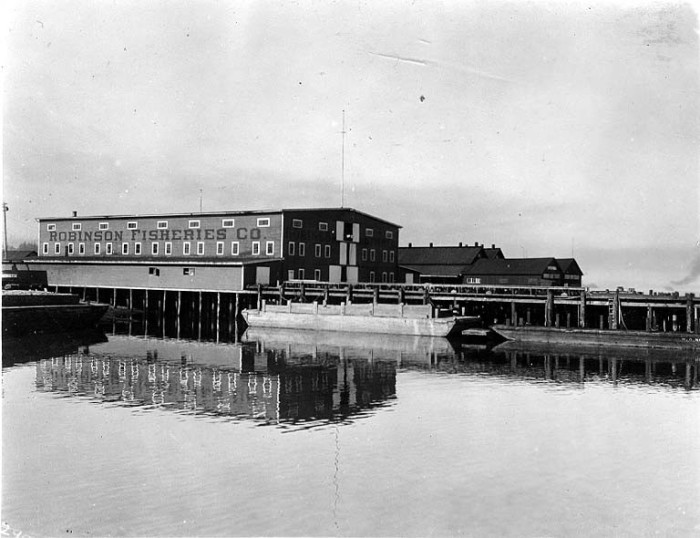 9. Here was the Robinson Fisheries Company in Anacortes, as seen in April 1910.