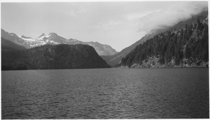 10. A remarkable shot of Ross Lake Reservoir in the Mount Baker National Forest, captured in 1954.
