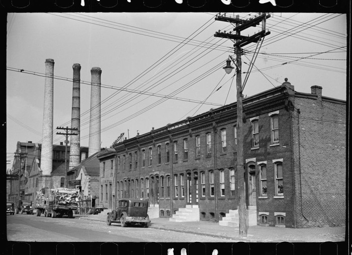 17. Row houses occupied by factory workers in Camden.