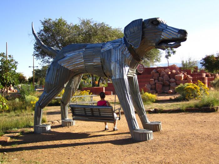 1. The galleries in Santa Fe's Railyard