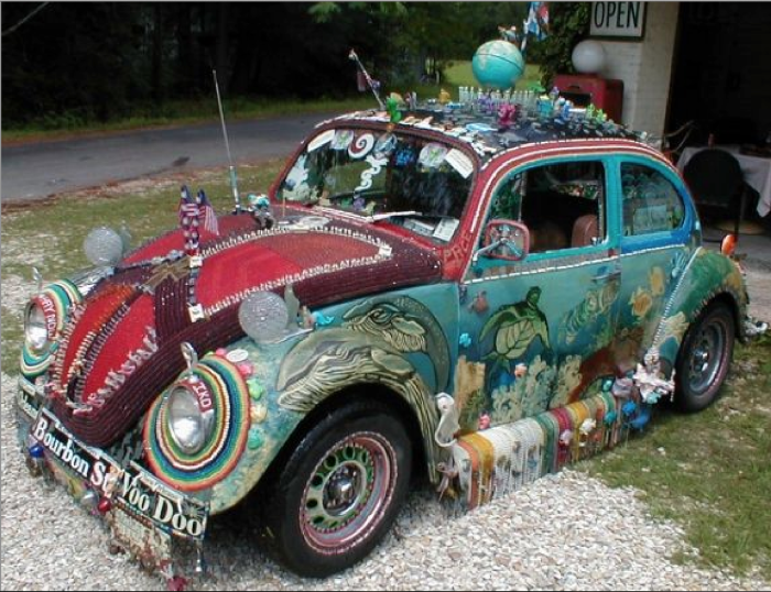 15. A car decorated like this?