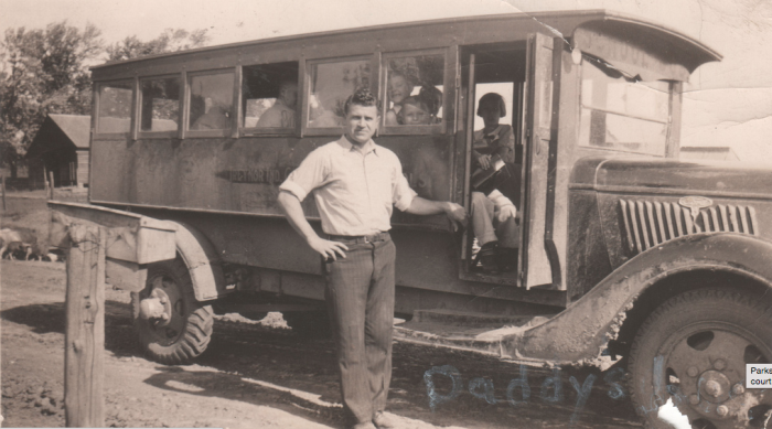 12. This school bus driver took rural students to school in the 1930s. The buses then look a lot different than our buses today.