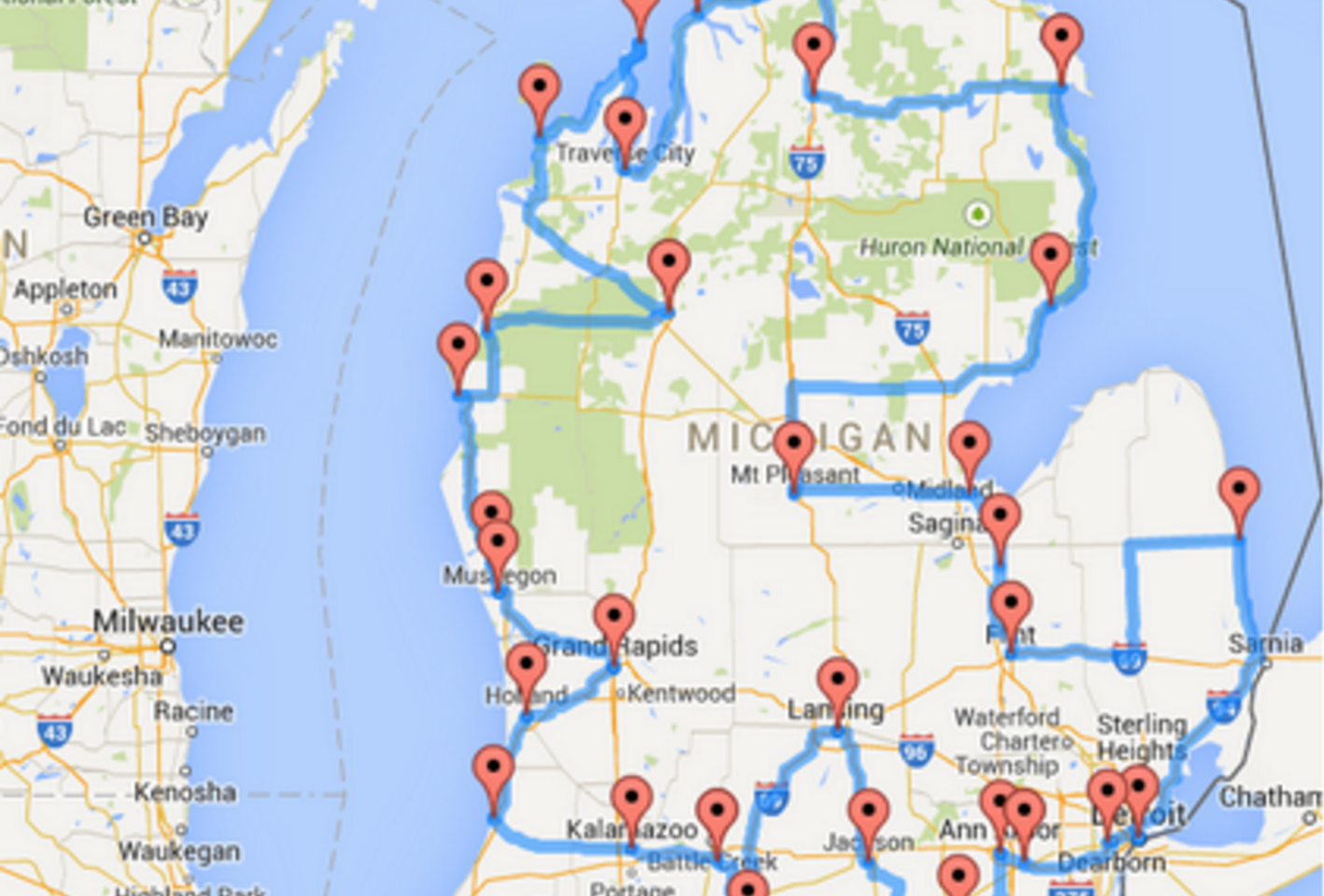 This Is The Ultimate Michigan Road Trip - Road map of michigan