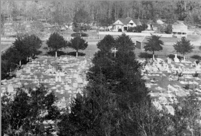14. Church Point's Roman Catholic Cemetery, circa 1950.