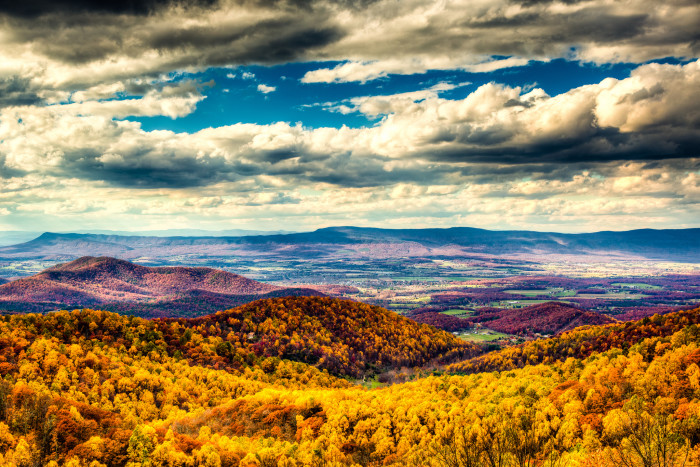 1. Fall at the Shenandoah National Park…as seen from the Skyline Drive.