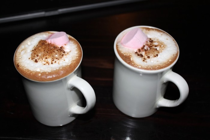 2. Sipping cocoa is one of the more enjoyable ways to spend time during the cold winter months.