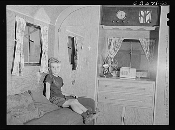 3) Son of Mr Nichols, defense worker from Cass City, now living in a trailer at Edgewater Park near Ypsilanti, August 1941