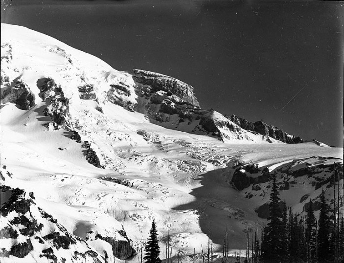 11. Up close, this was the southwest slope of Mount Rainier showing Gilbralter Rock in 1910.