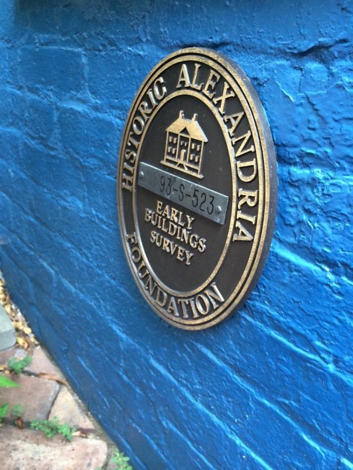 Spite House plaque