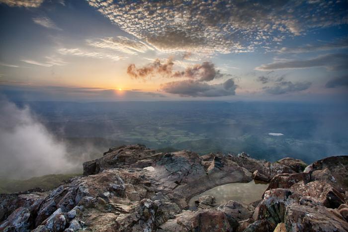 6. Sunset at Stony Man summit.