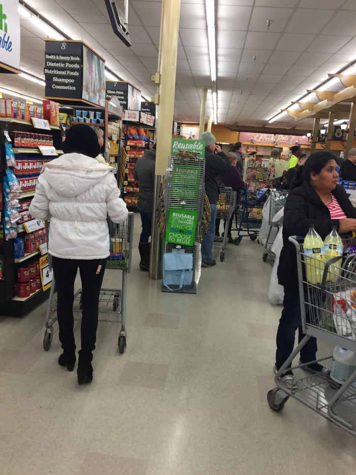 Step 2: Do NOT be intimidated by the Black Friday-like crowds at the grocery store. This is war.
