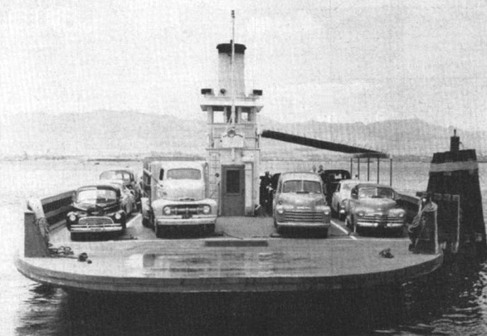 7) The United States Navy yard ferryboat, Nihoa, provided ferry service between Naval Air Station Ford Island and Pearl Harbor, before the bridge was constructed.